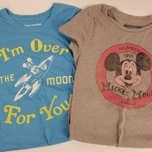GIRLS ABERCROMBIE KIDS MICKEY SHIRTS SX 15/16
